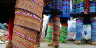 Detail ethnic dress royalty free stock photos