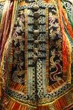 Detail of ethnic minorities costume. Detail of traditional ethnic minorities costume in china stock images