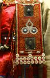 Detail of ethnic minorities costume. Detail of traditional ethnic minorities costume in china stock image