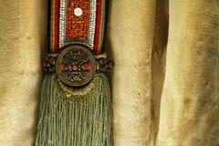 Detail of ethnic minorities costume. Detail of traditional ethnic minorities costume in china royalty free stock photo