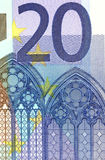 Detail of 20 euro banknote Stock Photography