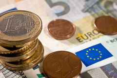 Detail of Euro currency Stock Images