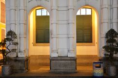 European building in Senado Square in Macau Royalty Free Stock Photos