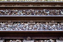 Detail of an european train track stock images