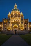 Detail of evening view of Government house in Victoria BC Royalty Free Stock Photography