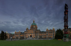 Detail of evening view of Government house in Victoria BC Stock Photo