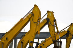 The detail of excavator Construction Equipment Royalty Free Stock Image