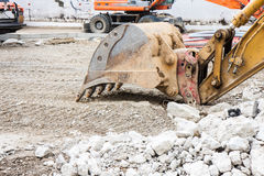Detail of an excavator Royalty Free Stock Image