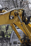 Detail from an excavator parked on the Street Stock Photos