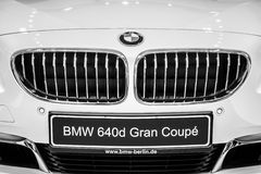 Detail of a executive coupe BMW 640i Gran Coupe Royalty Free Stock Images
