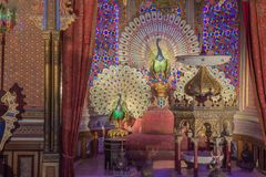 Detail of the exotic interior in the Moorish Kiosk. Editorial: ETTAL, BAVARIA, GERMANY, October 1st, 2017 - Detail of the exotic interior in the Moorish Kiosk royalty free stock images