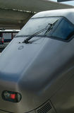 Detail of express-train. Front of the Gardermoen airport-express at Oslo Central railway station Stock Image