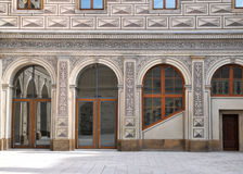 Detail exterior of Bohemian building Royalty Free Stock Image