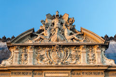 Detail of the exterior of the Louvre Royalty Free Stock Image