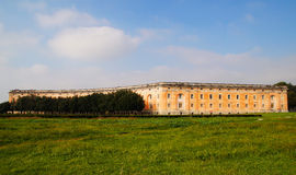 Detail of exterior part of Royal Palace of Caserta Royalty Free Stock Photos