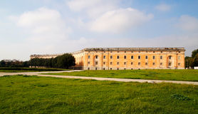 Detail of exterior part of Royal Palace of Caserta Royalty Free Stock Photo