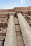 Detail of exterior Saint Peter's Basilica with corinthian column Royalty Free Stock Photos