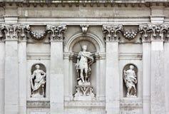 Detail of the Exterior of Santa Maria della Salute Church in Venice. Detail of the exterior of the baroque church of Santa Maria della Salute in Venice, Italy royalty free stock photos