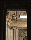 Detail exterior of St. Peter's Basilica in Vatican Stock Photos