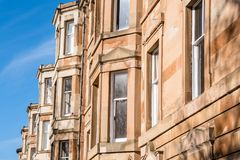 Detail of the Exterior of Traditional Scottish Sandstone Houses royalty free stock photography