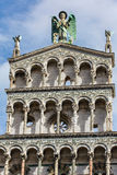 Detail exterior view of Lucca Cathedral Stock Photography