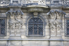 Detail on Exterior Wall of Dresden Castle, Saxony, Germany Royalty Free Stock Image