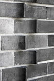 Detail of extruded brick wall Royalty Free Stock Photos