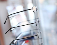 Detail from eye glasses shop Royalty Free Stock Photography