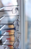 Detail from eye glasses shop Stock Photos