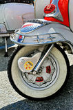 Detail f design Lambretta - iconic Italian scooter. Stock Photo