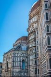 Detail of the facade of the Basilica di Santa Maria del Fiore in Firenze, Italy royalty free stock images