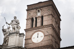 Detail of the facade of the Basilica of The Holy Cross Stock Image