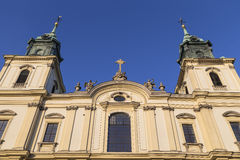 Detail of facade of the Basilica of the Holy Cross Royalty Free Stock Photo
