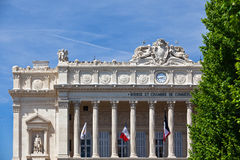 Detail of facade Bourse et Chambre Royalty Free Stock Photo