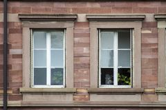 Detail facade building. Strasburg, France royalty free stock photography