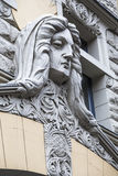 Detail of the facade of the building Royalty Free Stock Photography