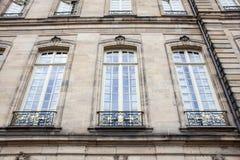 Detail facade building. Strasburg, France royalty free stock photos