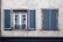 Detail facade building. Strasburg, France stock photo