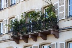 Detail facade building. Strasburg, France royalty free stock images
