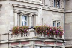 Detail facade building. Strasburg, France stock image
