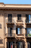 Detail of the facade of a building of the xix century Stock Photo