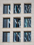 Detail of the facade of a business building in Frankfurt, German Stock Photo