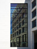 Detail of the facade of a business building in Frankfurt, German Royalty Free Stock Photography