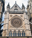 Detail of the facade of the cathedral. Of Leon Stock Photography
