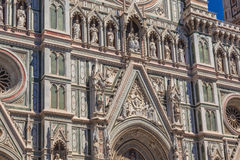 Detail Facade Cathedral Florence Royalty Free Stock Images