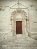 Detail of facade Cathedral of - Matera  - Italy Stock Photo