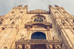 Detail of the facade of Milan Cathedral Royalty Free Stock Images
