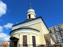 Detail of the facade of the Church of Innocent of Moscow. In Moscow on Dmitrovskoye Chessy Stock Photos