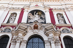 Detail of the facade of the Church of Our Lady of Perpetual Help Stock Photos