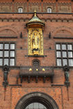 Detail of facade of Copenhagen City Hall Stock Image
